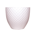 Sticks and Stones Outdoor - Diamond Pot White