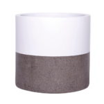 Sticks and Stones Outdoor - Cylinder Concrete Pot with Top Dip