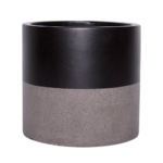 Sticks and Stones Outdoor - Cylinder Pot Black Top Dip