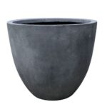 grey egg pot