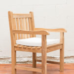 Sticks and Stones Outdoor - Plantation Teak Dining Armchair with Sunproof Cushion White