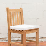 Sticks and Stones Outdoor - Plantation Teak Dining (Armless) Chair White