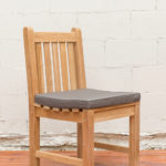 Sticks and Stones Outdoor - Plantation Teak Dining (Armless) Chair with Sunproof Cushion Charcoal