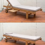 Sticks and Stones Outdoor - Plantation Teak Sunlounger Sunproof Cushion Charcoal