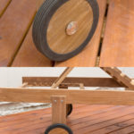Sticks and Stones Outdoor - Plantation Teak Sunlounger wheel
