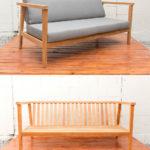 Sticks and Stones Outdoor - 2 Seater Lounge Sunbrella Platinuml