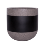 Sticks and Stones Outdoor - U-Shaped Pot Black Band