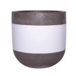 Sticks and Stones Outdoor - U-Shaped Pot White Band