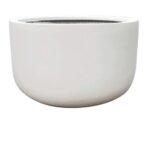 white basin pot